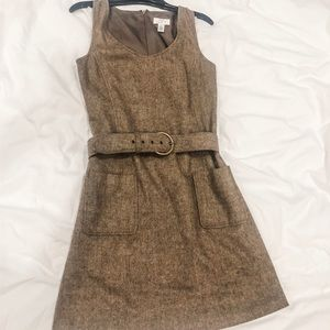 Loft brown tank dress size 2 (tweed style)